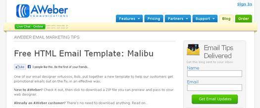 Free HTML Email Template [Free Download] Malibu