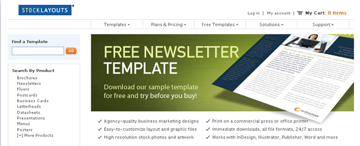 Free Newsletter Templates By StockLayouts