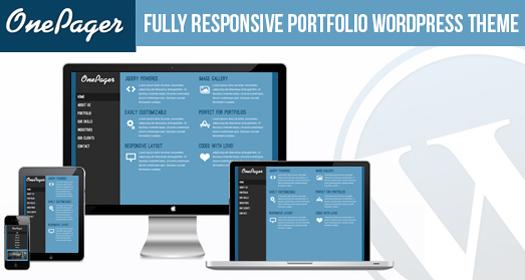 Free Responsive Single-Page Portfolio WordPress Theme OnePagerFree Responsive Single-Page Portfolio WordPress Theme OnePager