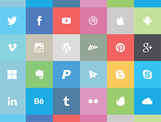 Freebie-Flat-Social-Icon-Set-Free
