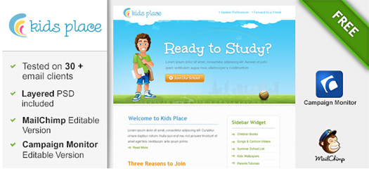 Kids Newsletter Template