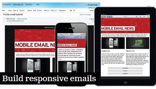 Free Responsive HTML E Mail Enewsletter Templates EGrappler - Build responsive email template