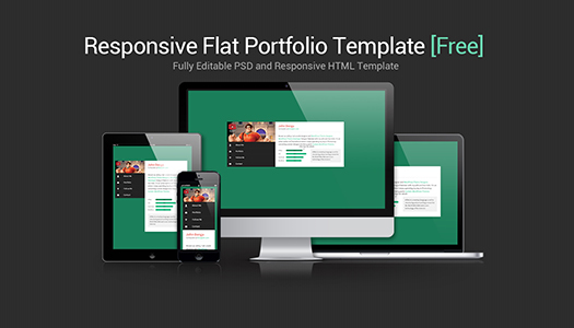 Flat Responsive Portfolio Website Template Free Download Egrappler