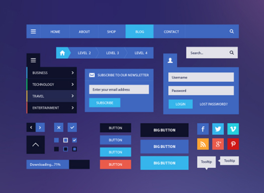 BlogMagazine Flat UI Kit