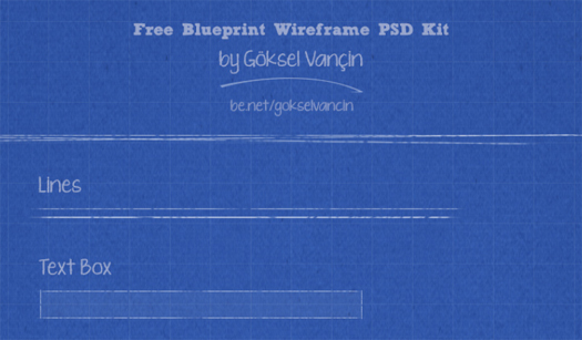 Blueprint Wireframe PSD Kit