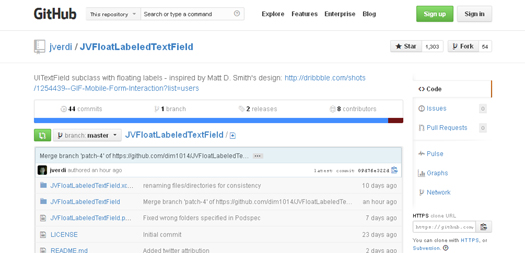 Display FloatedAnimated Input Placeholder - JVFloat