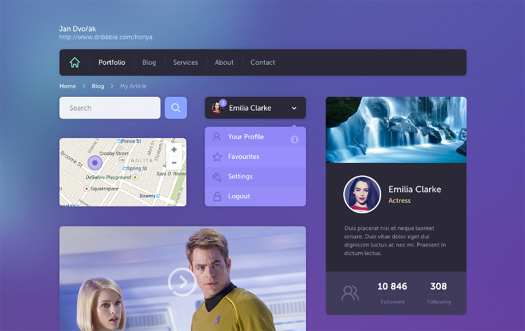 Flat UI Kit by Jan Dvorak