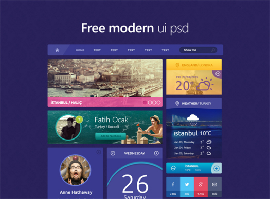 70 Greatest Free Photoshop PSD UI Kits / Wireframes for Internet