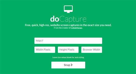 Free, Quick, High-res, Website Screen Captures - doCapture