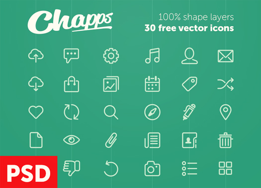 Free Vector Icons from Chapps (PSD)