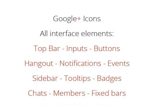 Google+ Template GUI -DesignShock