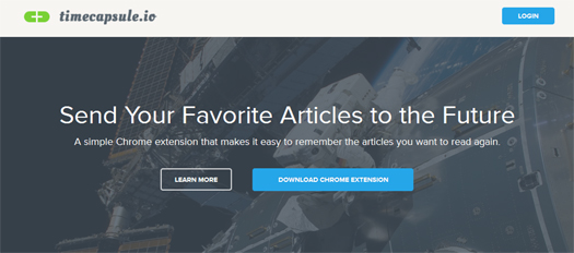 Send Your Favorite Articles to the Future - Timecapsule
