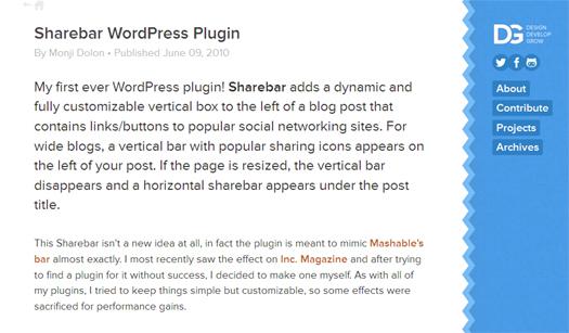 Sharebar WordPress Plugin