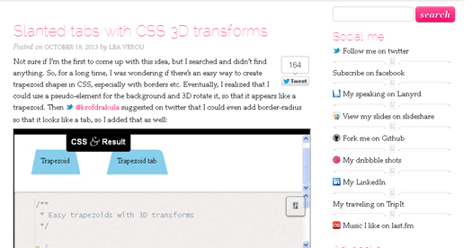 Slanted Tabs with CSS 3D Transforms