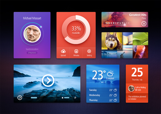 UI Kit (Free PSD) by Sanadas Young