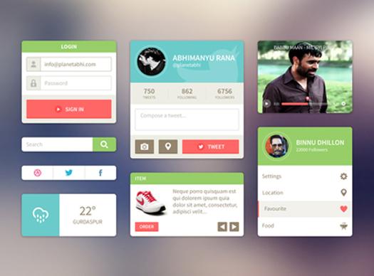 UI Kit by Abhimanyu Rana
