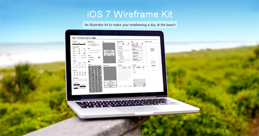 iOS 7 Wireframe Kit (AI & Graffle)