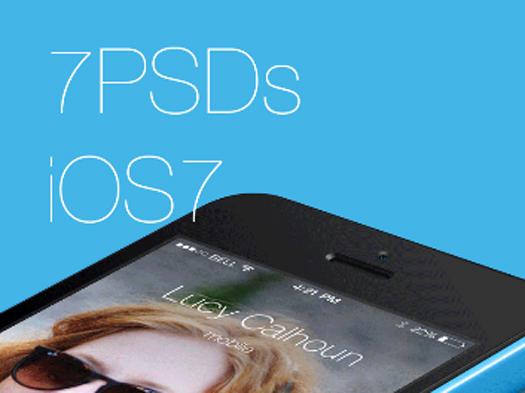 iOS7 App Templates (PSD)