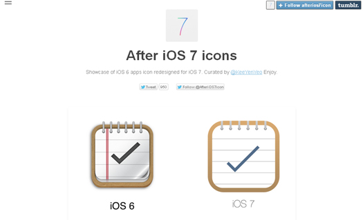Showcase of iOS 6 Apps Icon Redesigned for iOS 7