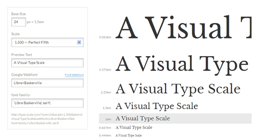 A Visual Type Scale Calculator