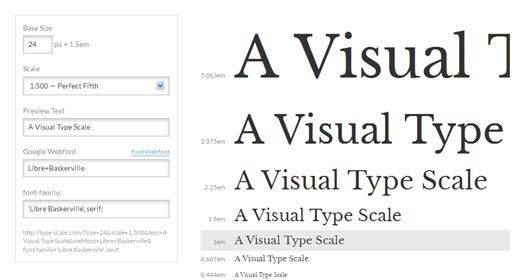 A Visual Type Scale Calculator