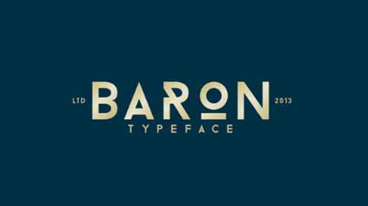Baron (Free typefamily)