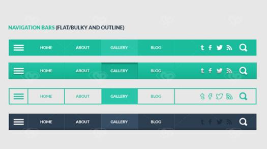 Freebie 3 in 1 User Interface Elements Kit Part 1