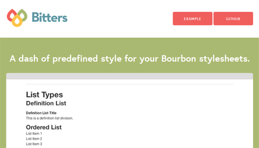 Predefined Style for Your Bourbon Stylesheets - Bitters
