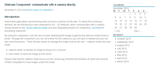 Webcam Component Communicate With a Camera Directly