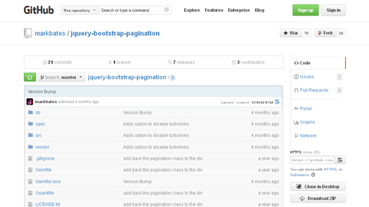 jQuery Bootstrap Pagination