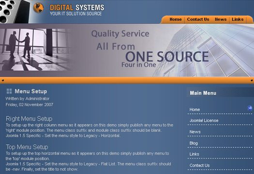 Digital Systems - Free Joomla Template