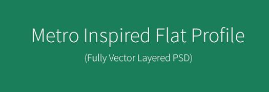 Free Premium-like Flat Profile PSD (Metro Inspired)