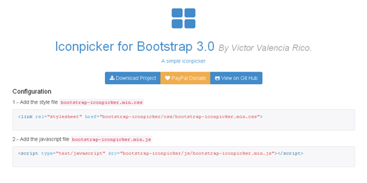 Iconpicker for Bootstrap 3.0