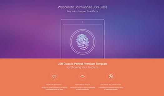 JSN GLASS - Responsive Free Joomla Theme