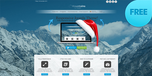 mountains free joomla responsive theme