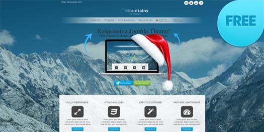 Mountains Free Joomla Responsive Theme
