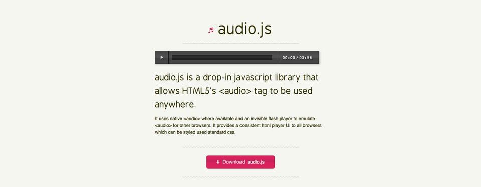 13 Wonderful JavaScript Audio Libraries for Developers