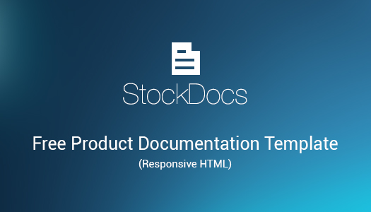 FREE Product Documentation HTML Template: StockDocs | EGrappler