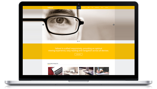 responsive html5 template for free obtain yellow egrappler