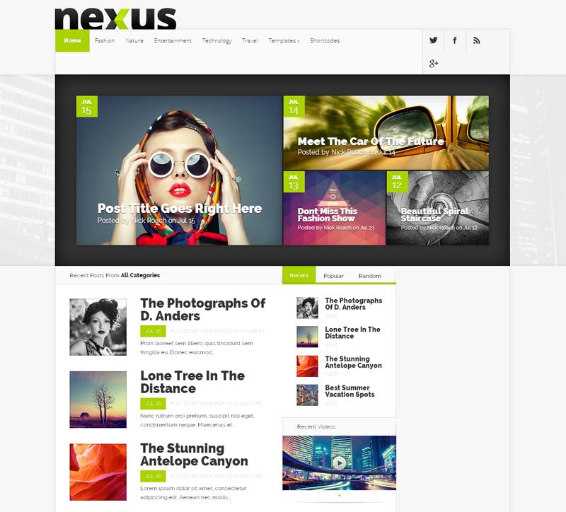 Nexus WordPress Theme