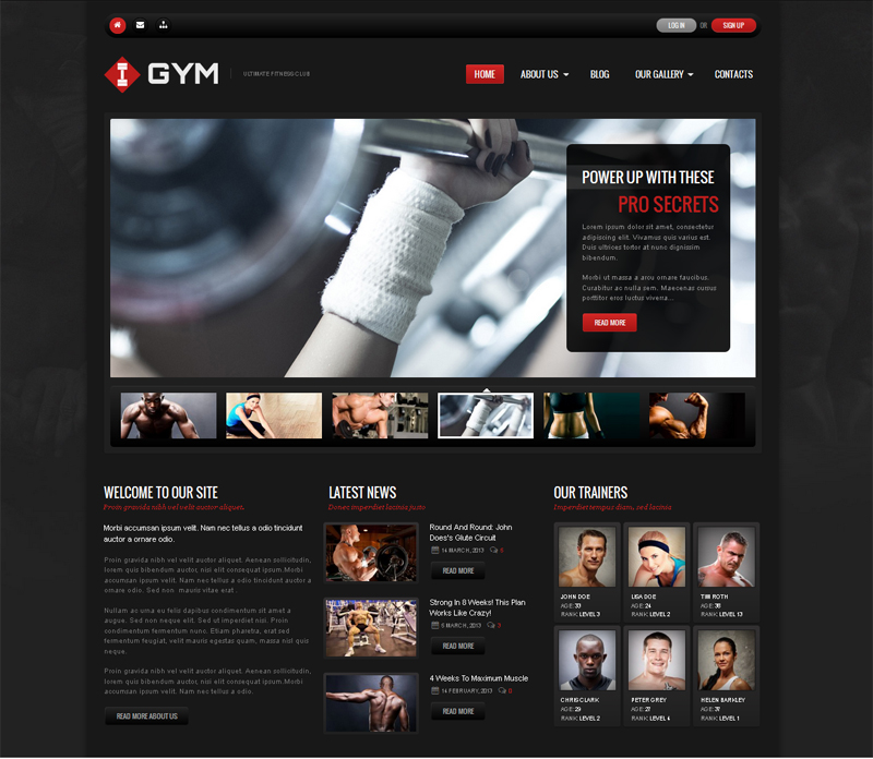 Ultimate Fitness WordPress Theme