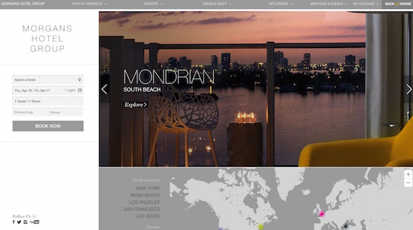 30 creative hotel website designs for inspiration egrappler for Sites hotel