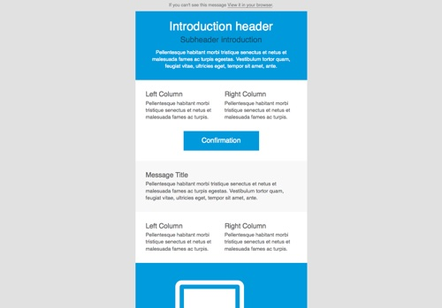 9 free responsive e mail templates egrappler this bare bones electronic mail template is a sound basis for creating your personal model it is totally responsive and totally customizable pronofoot35fo Choice Image