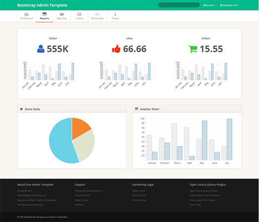 TemplateVamp Twitter Bootstrap Admin Template NOW AVAILABLE! | EGrappler