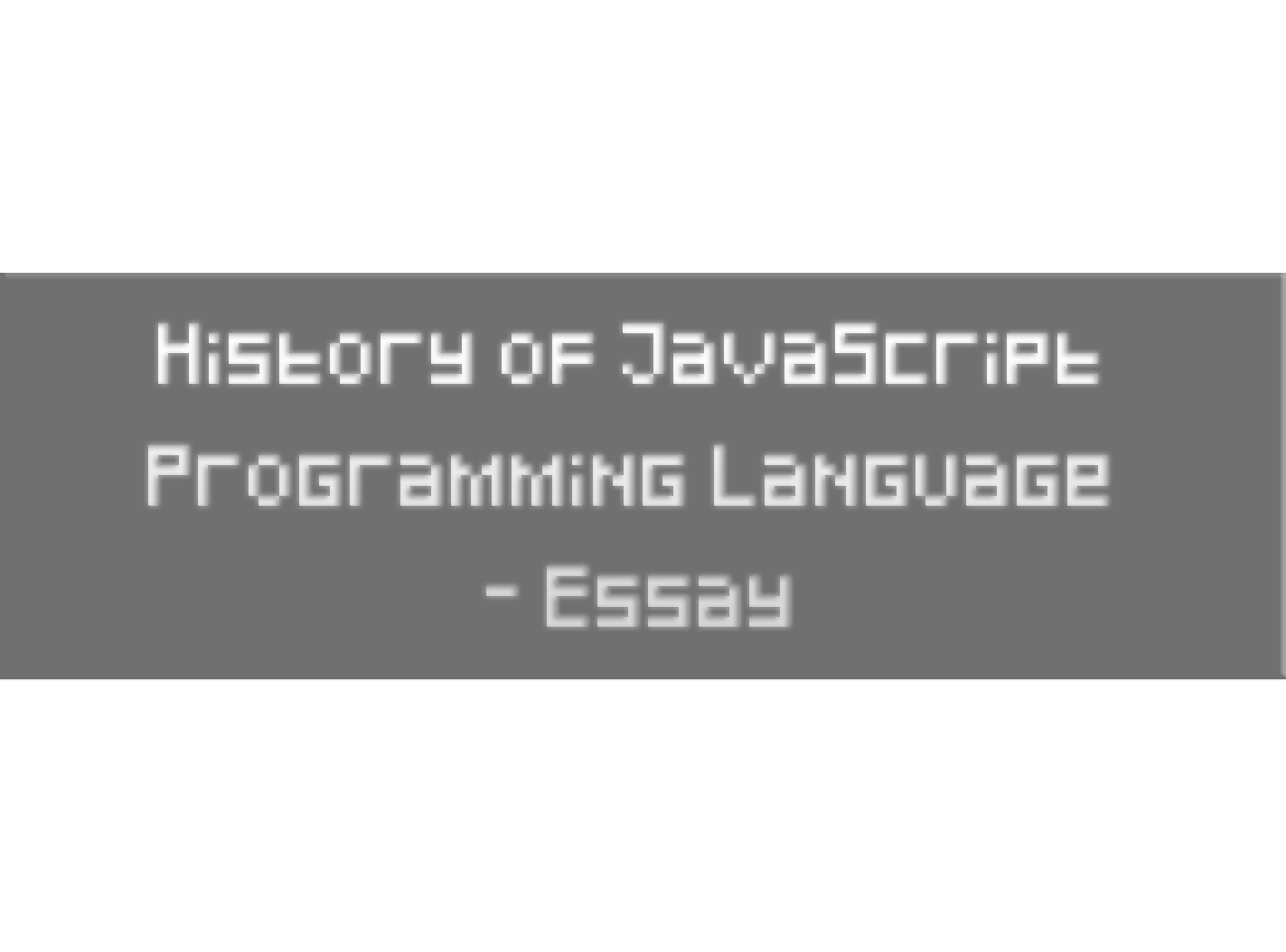 javascript is a/an language