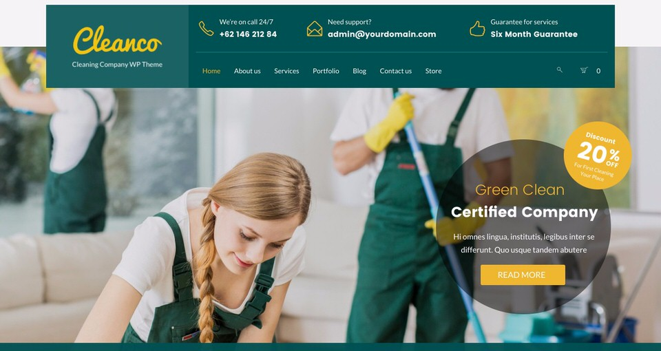 15 Best Wordpress Themes For Cleaning Services 2018 Egrappler
