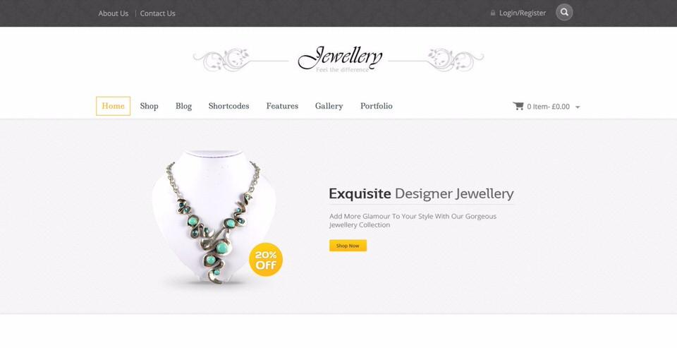 Jewellery Theme