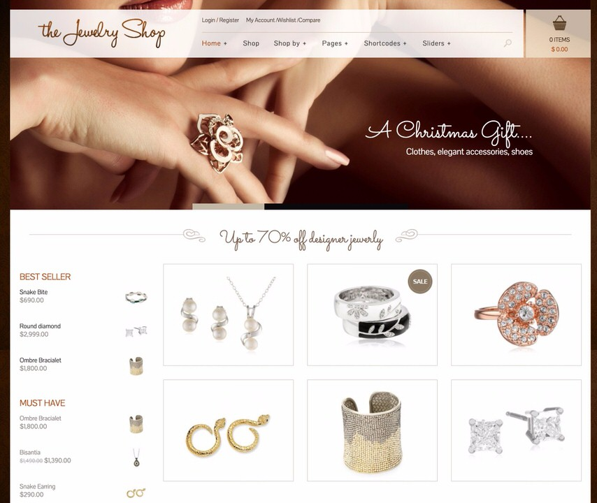 The Jewelry Shop Theme