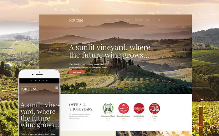 Seasoned Wine WordPress Theme