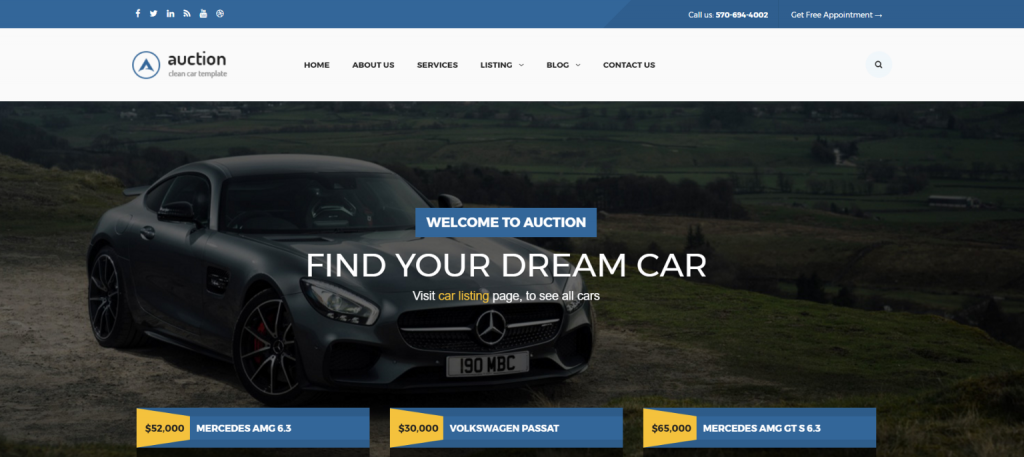 Auction Best Theme for WordPress